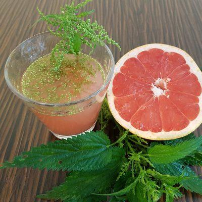 Grapefruitsaft mit Brennesselsamen